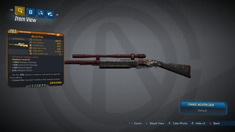 Borderlands 3 Legendary Jakobs Sniper Rifle - Bird of Prey