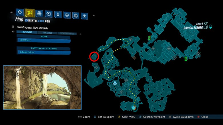 Borderlands 3 Proving Grounds - Trial of Fervor - Quest Location