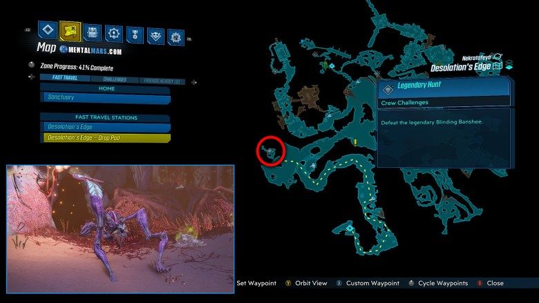 Blinding Banshee Location Guide - Borderlands 3