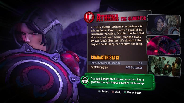 How to unlock Athena in Tales from the Borderlands