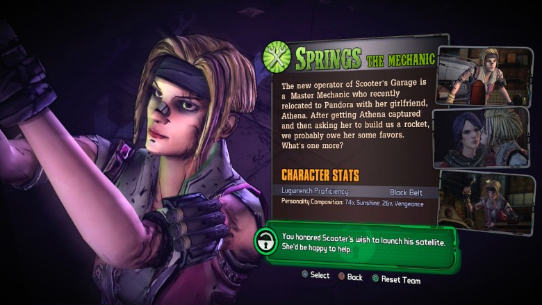 How to Unlock Springs in Tales From the Borderlands