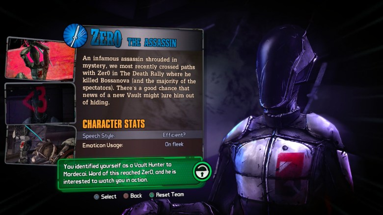 How to Unlock Zero in Tales From the Borderlands