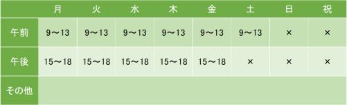 東神奈川クリニックの診療時間について