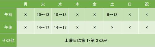 メンタル神田クリニックの診療時間