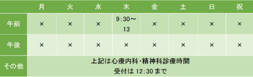 神田医院の診療時間