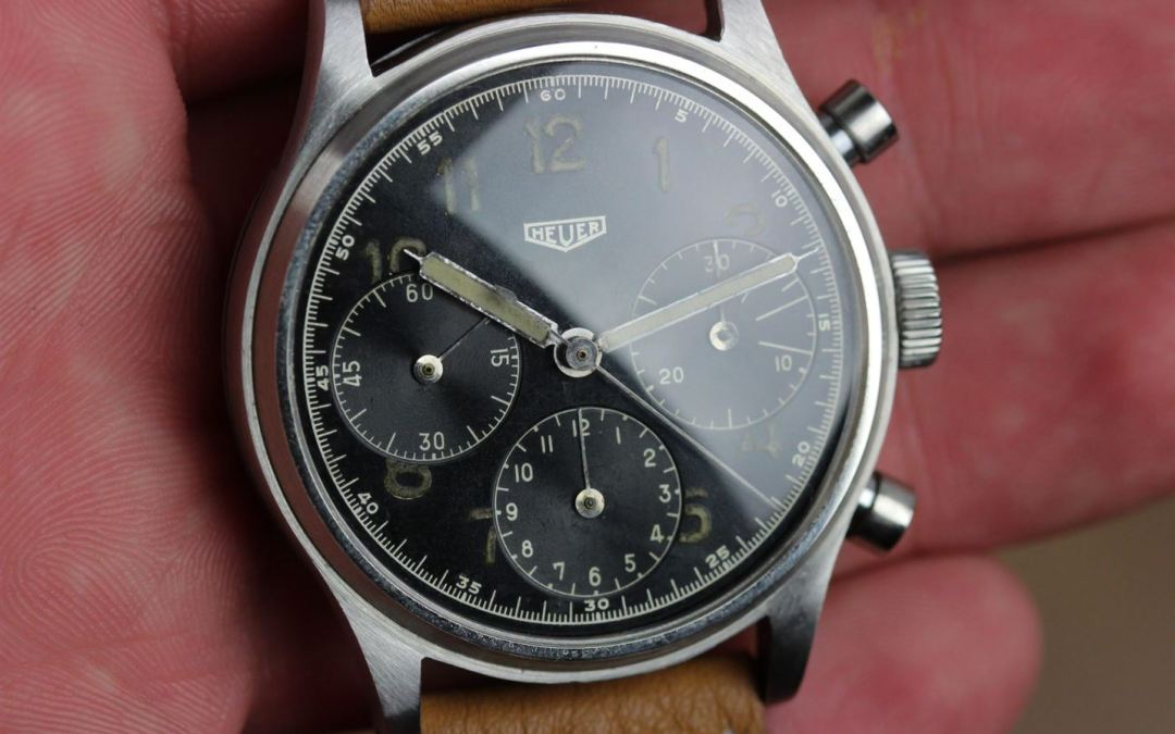 Vintage chronograph watches by Heuer