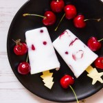 Ghiaccioli alle ciliegie e latte di cocco