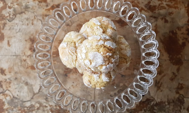 Orange and cinnamon crinkle cookies (biscotti morbidi all'arancia e cannella)