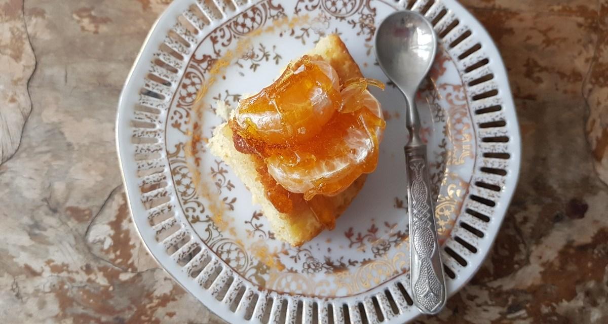Torta morbida ai mandarini e caramello
