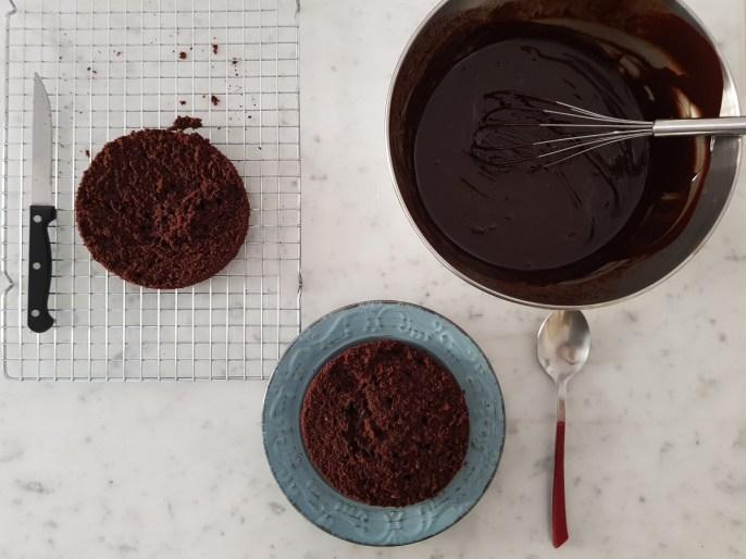 Preparazione della Devil's Food Cake