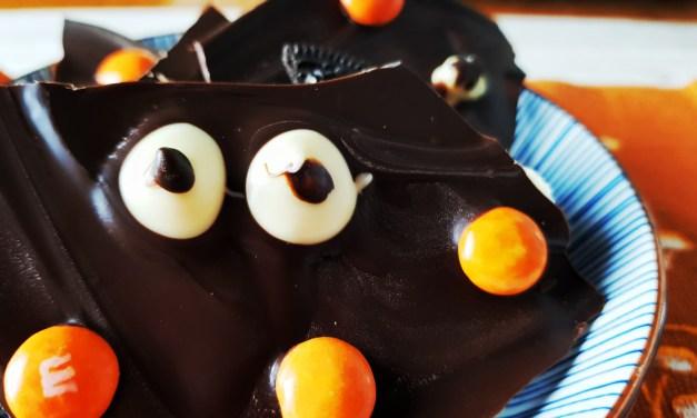 Barrette di cioccolato di Halloween