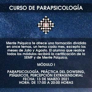 Curso de Parapsicología - Módulo I @ Mente Psíquica, entrenamiento para médiums
