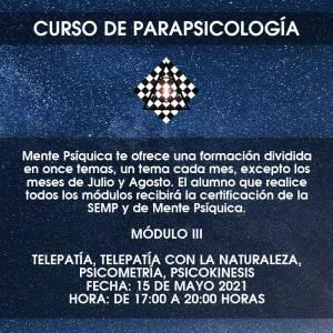 Curso de Parapsicología - Módulo III @ Mente Psíquica, entrenamiento para médiums