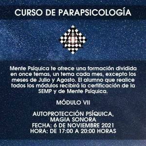 Curso de Parapsicología - Módulo VII @ Mente Psíquica, entrenamiento para médiums