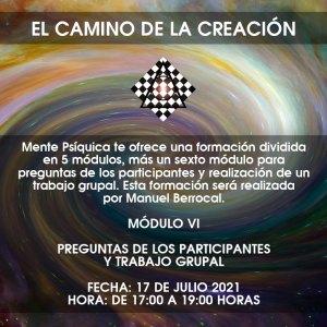 Formación El camino de la creación - Módulo VI @ Mente Psíquica, entrenamiento para médiums y psíquicos