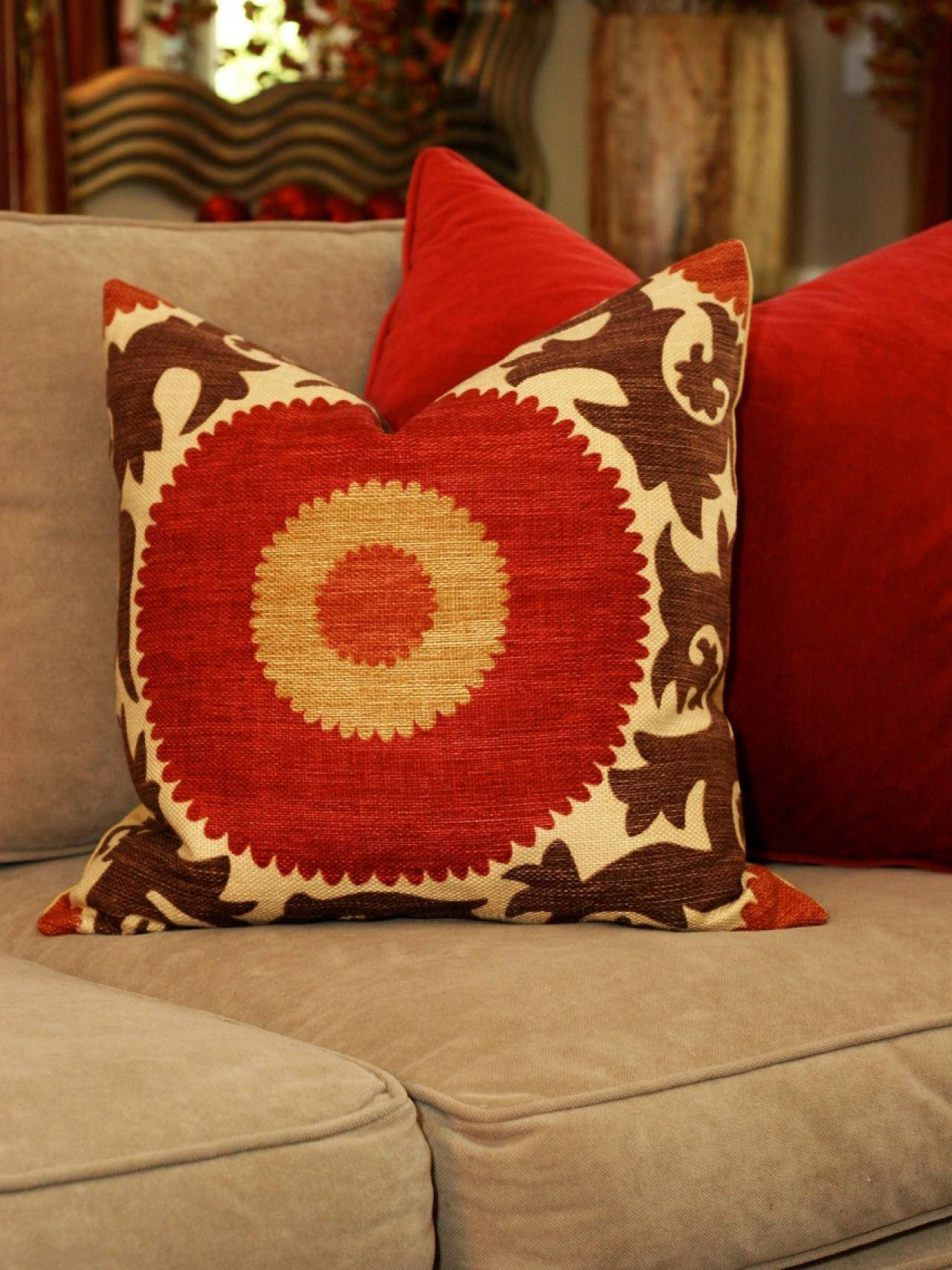 Get expert tips on selecting and decorating with throw pillows. Explore Photos of Red Sofa Throws (Showing 7 of 25 Photos)