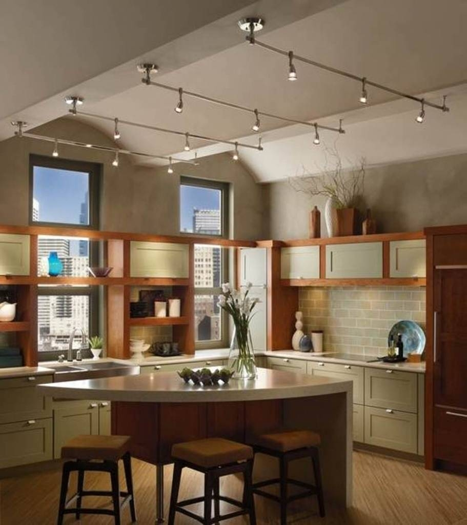 Kitchen Track Lighting Vaulted Ceiling Novocom Top