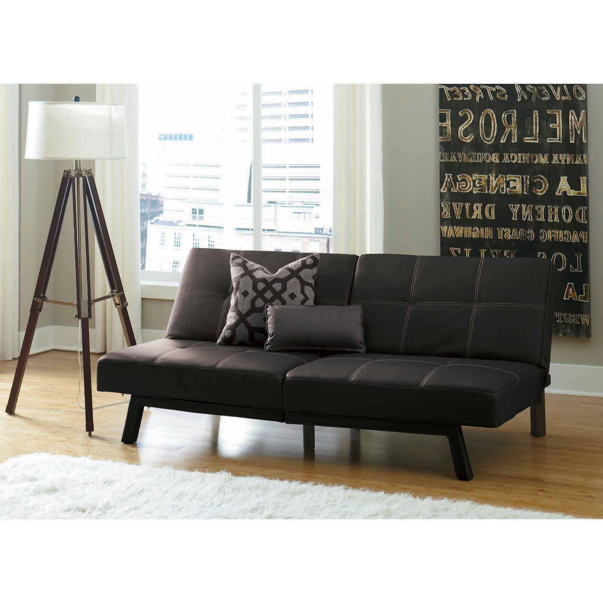 Medium image of mainstays contempo futon sofa bed multiple colors color chocolate