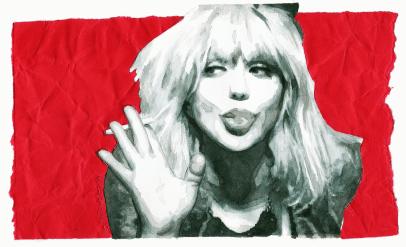 Take me to your sorrow (portrait of Courtney Love)