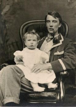 edward with merfyn 1900