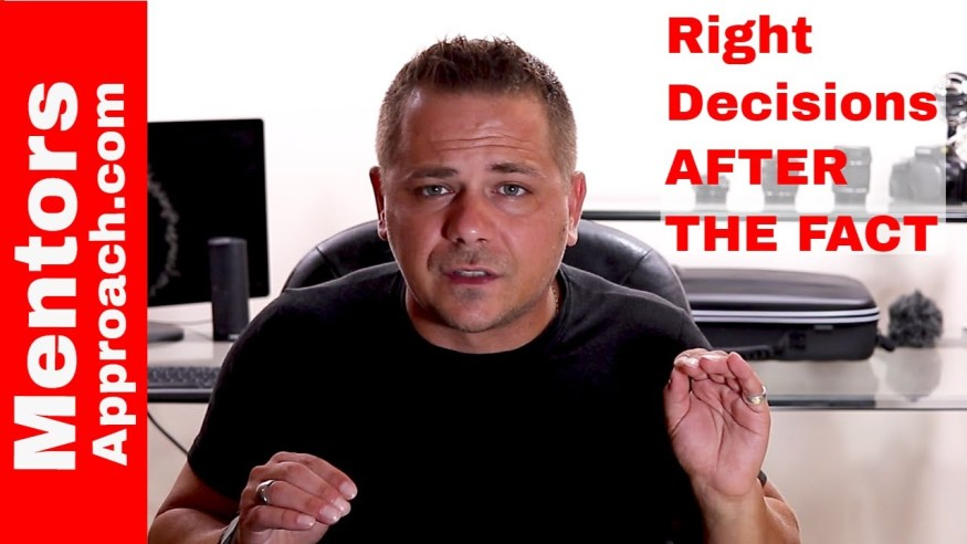 How to make the right decision after the fact. Disappointments of life Q-A Youtube Response