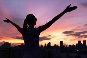 Success and life achievement concept