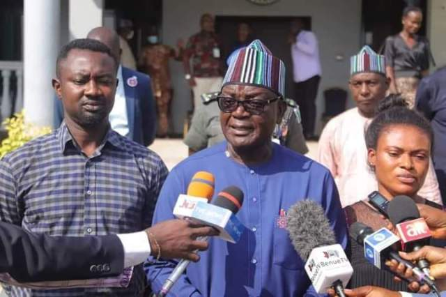The Benue State Governor, Samuel Ortom, has intervened in the family crisis of a Channels Television Reporter in the state