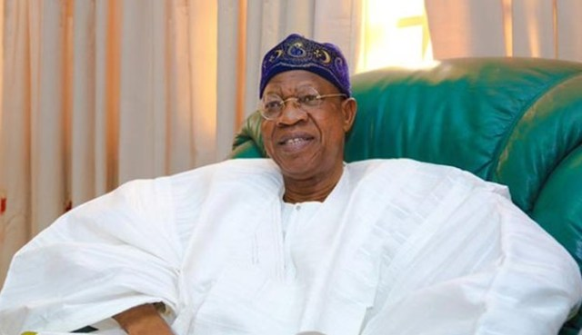 The Minister of Information, Culture and Tourism, Lai Mohammed