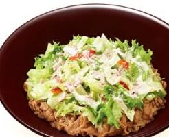 すき家「シーザーレタス牛丼丼」