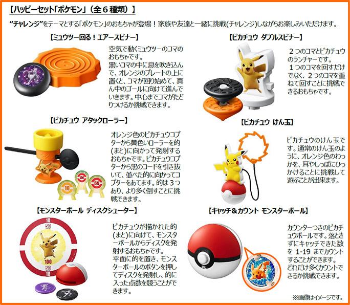 ハッピーセット「ポケモン」2019年6月28日6種類おもちゃ