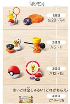 ハッピーセット「ポケモン」2019年6月28日6種類おもちゃ一部地域発売期間