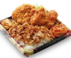 かつや「生姜焼丼から揚げチキンカツ弁当・全力飯弁当」2020年4月20日