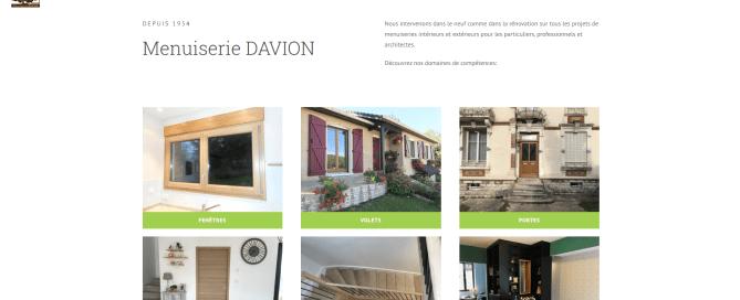 Site internet DAVION