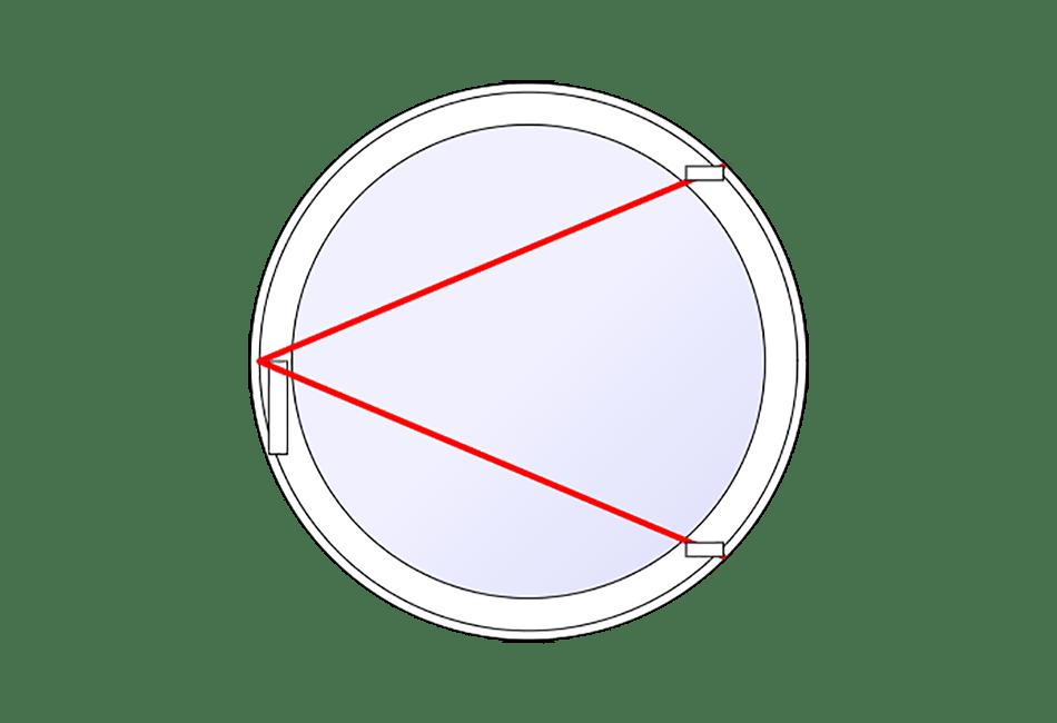 Oeil de boeuf alu ouvrant menuiseries direct for Oeil de boeuf porte
