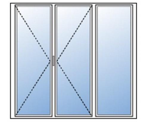 Portes Fenêtre Pvc 2 Vantaux 1 Fixe Menuiseries Direct