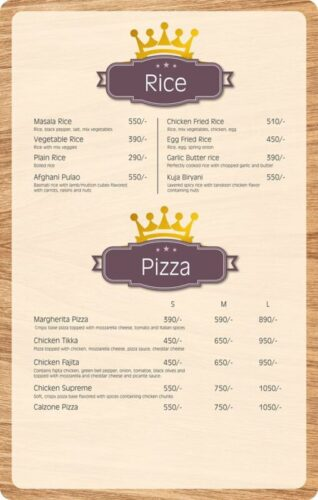 Lord Of Food Lahore Menu Card 6