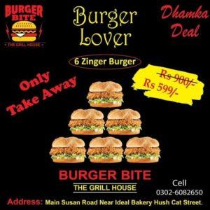 Burger bite take away deal