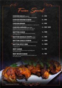 Fusion Grill Complete menu 1