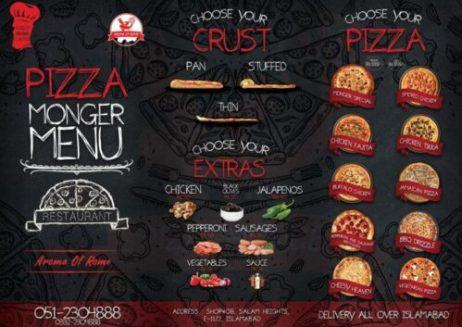Pizza Monger Menu Islamabad