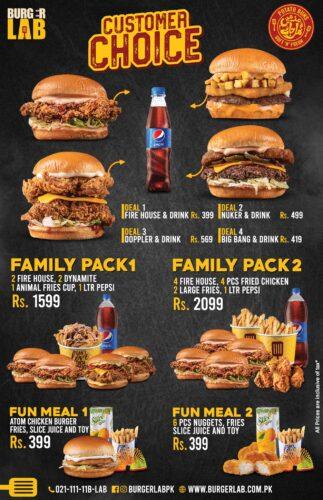 Burger Lab Faisalabad Deals