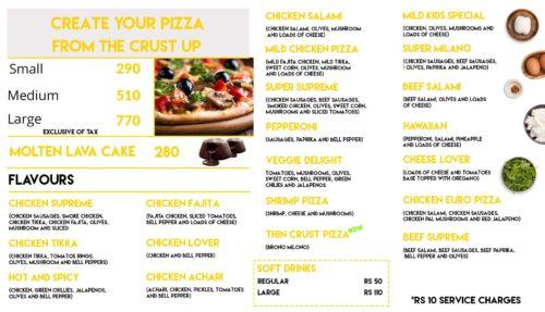 Pizza Channel Lahore Menu Price
