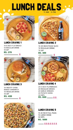 Broadway Pizza Lunch Deals