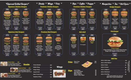 Burger Chalet Lahore Menu 1