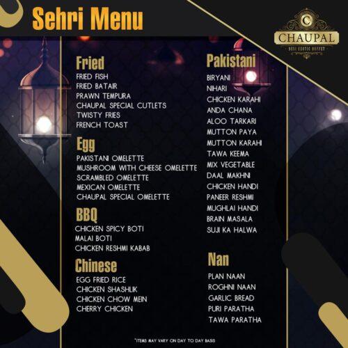 Chaupal Sehri Buffet