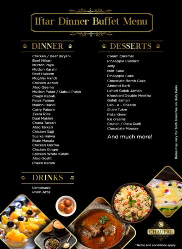 Chaupal Sehri Iftar Buffet