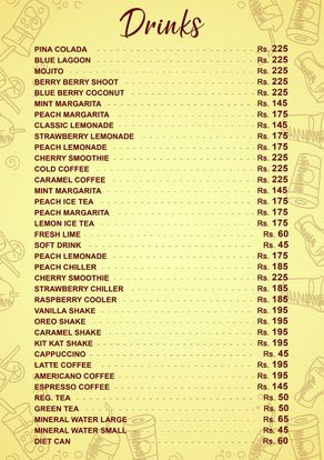 City Cafe & Grill Menu Price drink