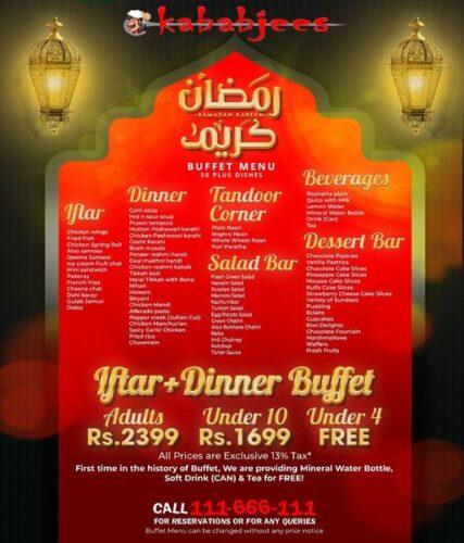Kbabjees Iftar buffet