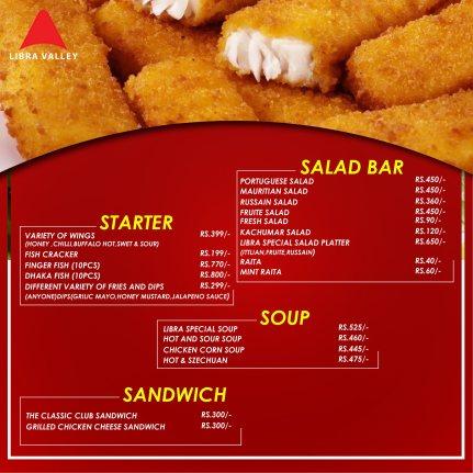 Libra Valley Restaurant Starter Menu