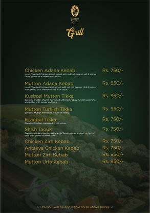 Zeytin Restaurant Menu Prices7
