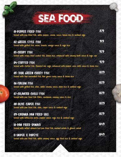 Masoom Café Menu Prices Sea Food